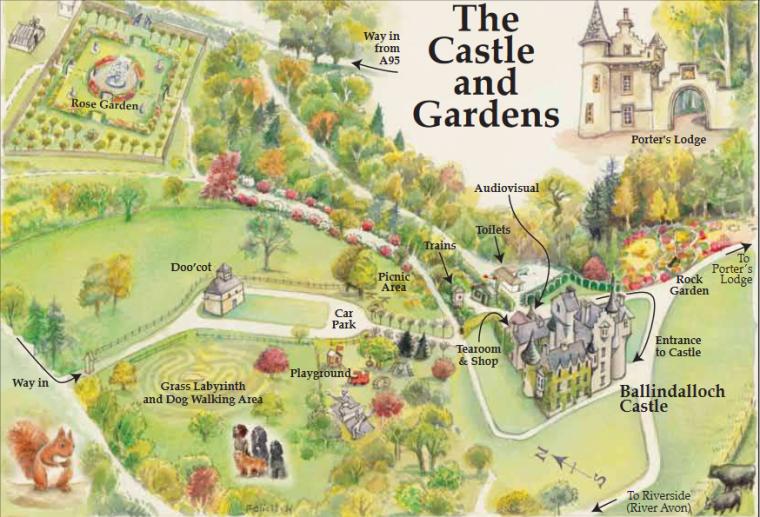 Ballindalloch Castle Map